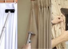 Как правильно постирать римские шторы.