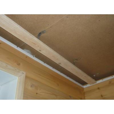 Виды карнизов и натяжной потолок.