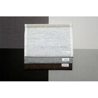 Римская штора ткань Тюль лён